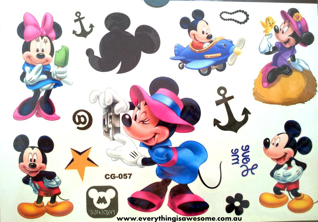 Everything is awesome new mickey minnie mouse temporary for Disney temporary tattoos mickey mouse