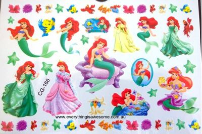 Picture of Disney Little Mermaid Princess Ariel Temporary Tattoo