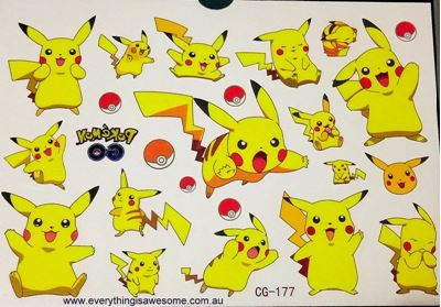 Picture of Pokemon CG-177 Temporary Tattoo