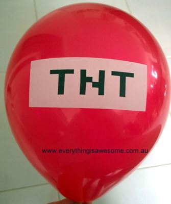 Picture of New 10 pcs Minecraft TNT Red Balloons