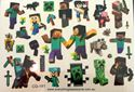 Picture of Minecraft Temporary Tattoo CG-141 - 5 Sheet