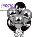 Picture of New 10 pcs Fortnite Black and Silver Balloons